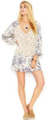 Free People Bishop-Sleeve Floral-Print Dress $128 thestylecure.com