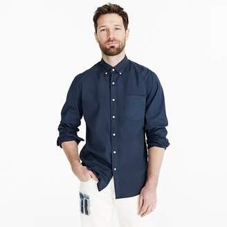J.Crew Stretch Secret Wash shirt in garment-dyed solid poplin