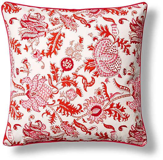 Amanda Cotton Pillow Cover - Orange - Roller Rabbit - 26