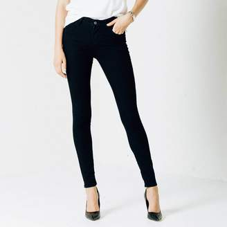 DSTLD High Waisted Skinny Jeans in Black Powerstretch