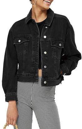 Topshop PETITE Cropped Oversized Jacket