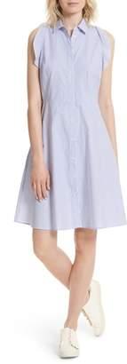 Kate Spade Ruffled Stripe Poplin Shirtdress