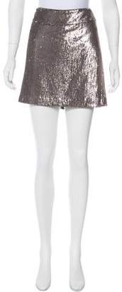 Halston Sequined Mini Skirt w/ Tags