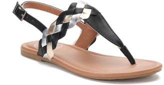 So SO Multi Braid Girls' Sandals