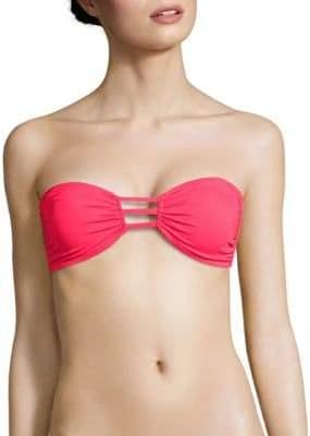 Milly Lanai Solid Bandeau Bikini Top