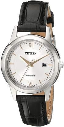 Citizen Women's FE1086-04A Ladies Straps Analog Display Japanese Quartz Black Watch