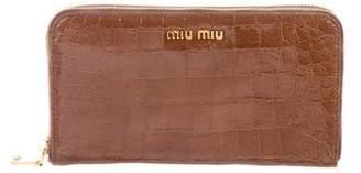 Miu Miu St. Cocco Zip Wallet