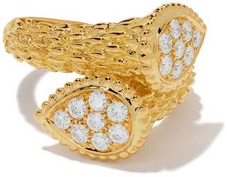Boucheron 18kt yellow gold Diamond Serpent Bohème Toi et Moi ring