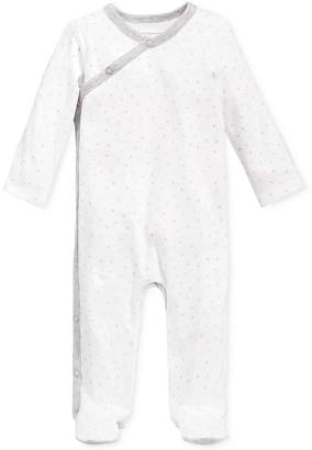 First Impressions 1-Pc. Star-Print Footed Coverall, Baby Boys & Girls, Created for Macy's