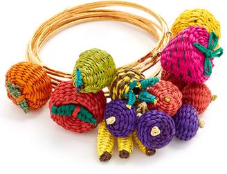 Mercedes Salazar Tuti Fruti Bangle Bracelet Set $250 thestylecure.com