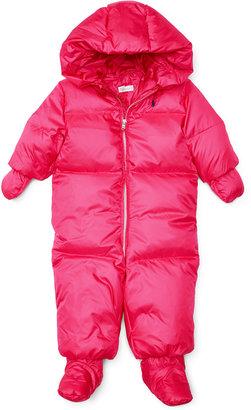 Ralph Lauren Baby Girls' Snowsuit $165 thestylecure.com