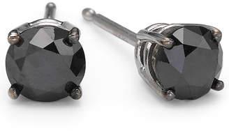 Black Diamond FINE JEWELRY 1 CT. T.W. Color-Enhanced Studs 10K White Gold