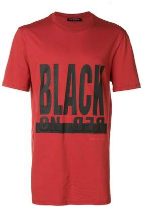 Neil Barrett Black on Red T-shirt