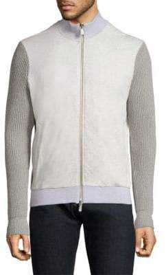 Eleventy Full-Zip Cotton Jacket