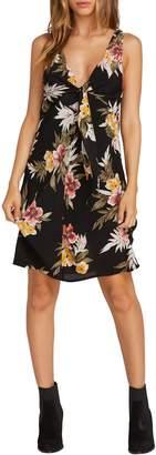 Volcom Wrap Skillz Floral Print Dress