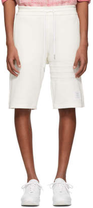 Thom Browne White Chunky Honeycomb Pique 4-Bar Shorts