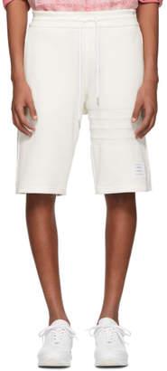 Thom Browne White Chunky Honeycomb Pique 4-Bar Shorts