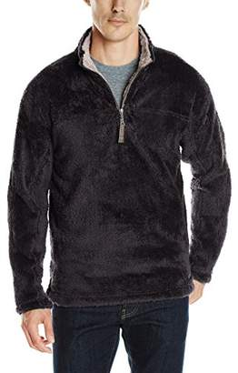 True Grit Men's Double Plush 1/4 Zip Pullover