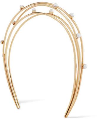 Cornelia Webb - Gold-plated Pearl Headband - One size