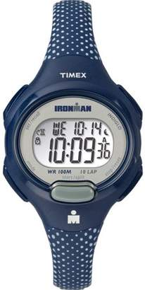 Timex Women's Ironman Essential 10 Blue/White Dots Watch, Resin Strap