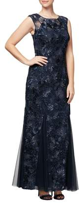 Alex Evenings Soutache & Sequin Gown
