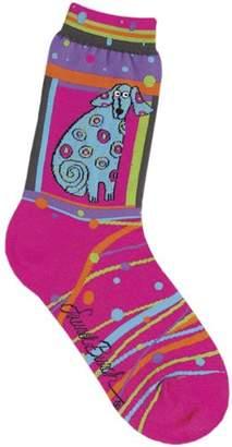 Laurèl Burch Women's Polka Dot Leopard Sock