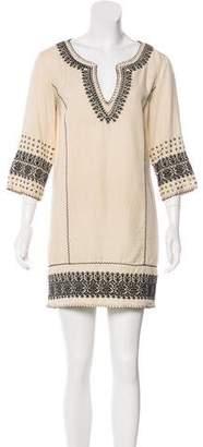 Pam & Gela Embroidered Mini Dress
