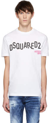 DSQUARED2 White Disco Punk Cool Fit T-Shirt
