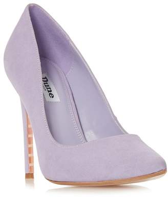 Dune Lilac Suede 'Amalfie' High Stiletto Heel Court Shoes