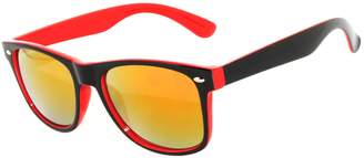 OWL New Stylish Retro Two -Tone Vintage Sunglasses Silver Light Mirror Lens .