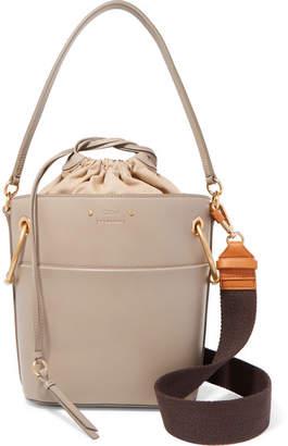 Chloé Roy Small Leather Bucket Bag - Gray