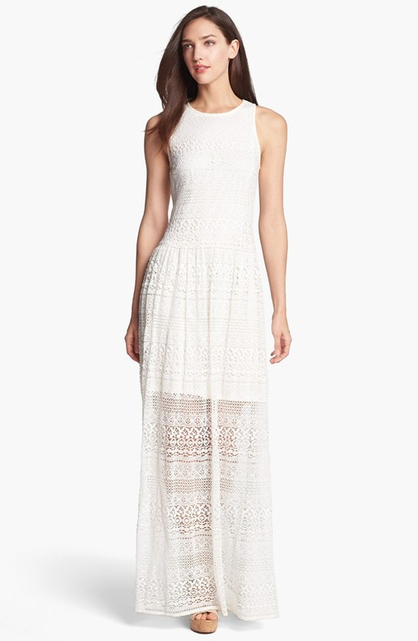 Suzi Chin for Maggy Boutique Crochet Maxi Dress