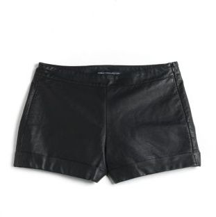 French Connection Cuffed Faux Leather Shorts