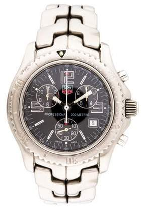Tag Heuer Link Chronograph Watch black Link Chronograph Watch