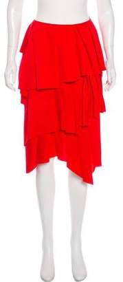 Cédric Charlier Pleated Asymmetrical Skirt w/ Tags