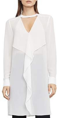 BCBGMAXAZRIA Shailene Ruffled Tunic Dress