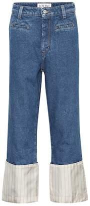 Loewe Striped-cuff jeans