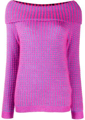 Blumarine off-the-shoulder sweatshirt