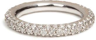 Carolina Bucci 18K White Gold 1885 Chunky Ring with Pave Diamonds