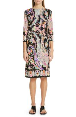 Etro Swirl Print Jersey Dress