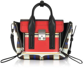 3.1 Phillip Lim Multi Scarlet Leather Pashli Mini Satchel Bag