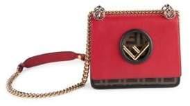 Fendi FF Kan I Small Leather Chain Strap Shoulder Bag