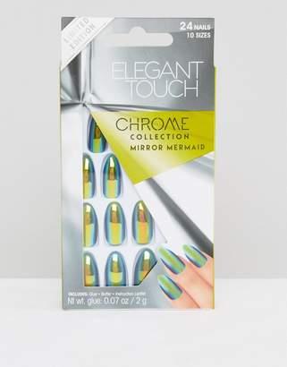 Elegant Touch Chrome Stiletto False Nails - Mirror Mermaid