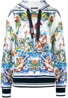 Dolce & Gabbana signature print hoodie