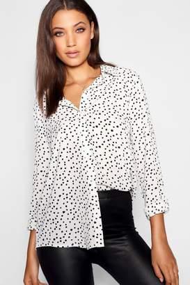 boohoo Tall Dalmatian Spot Print Shirt
