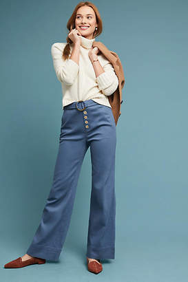 687590c11ba2 Anthropologie Cassidy Belted Wide-Leg Pants