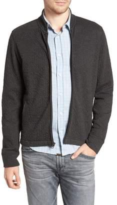 Billy Reid Giles Slim Fit Zip-Up Sweatshirt