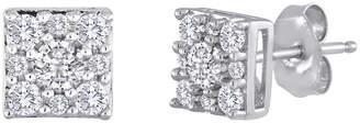 JCPenney FINE JEWELRY diamond blossom 1/2 CT. T.W. Diamond Sterling Silver Cluster Earrings