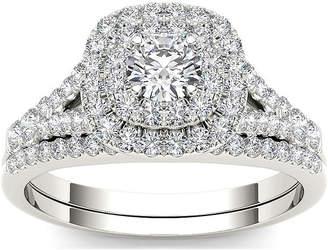 MODERN BRIDE 1 CT. T.W. Diamond 10K White Gold Engagement Ring Set