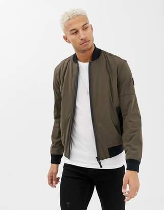 BOSS Onaci bomber jacket in khaki